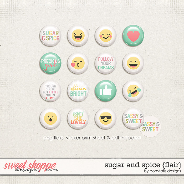 Sugar and Spice Flair by Ponytails