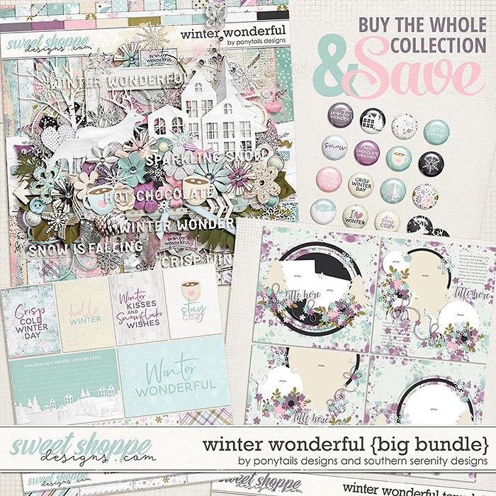 Winter Wonderful Big Bundle by Ponytails & Southern Serenity Designs