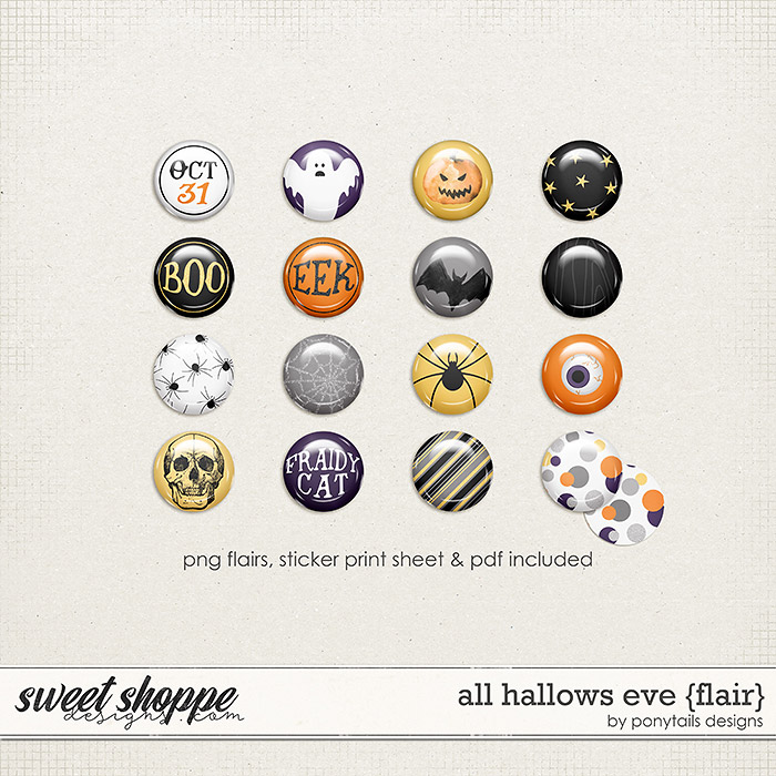 All Hallows' Eve Flair by Ponytails