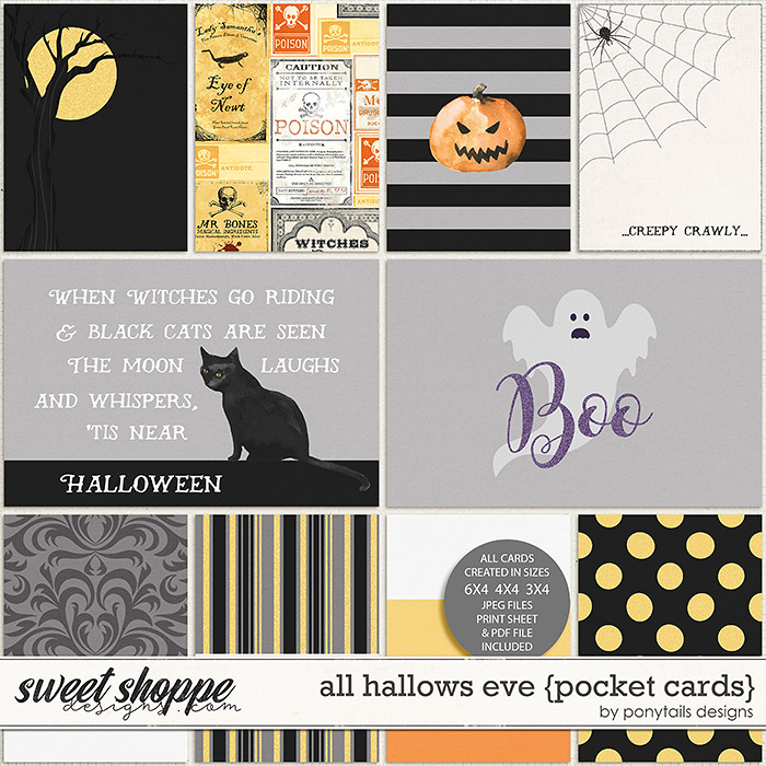 All Hallows' Eve Pocket Cards by Ponytails