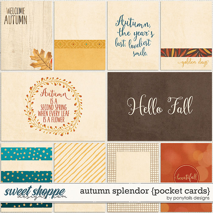 Autumn Splendor Pocket Cards by Ponytails