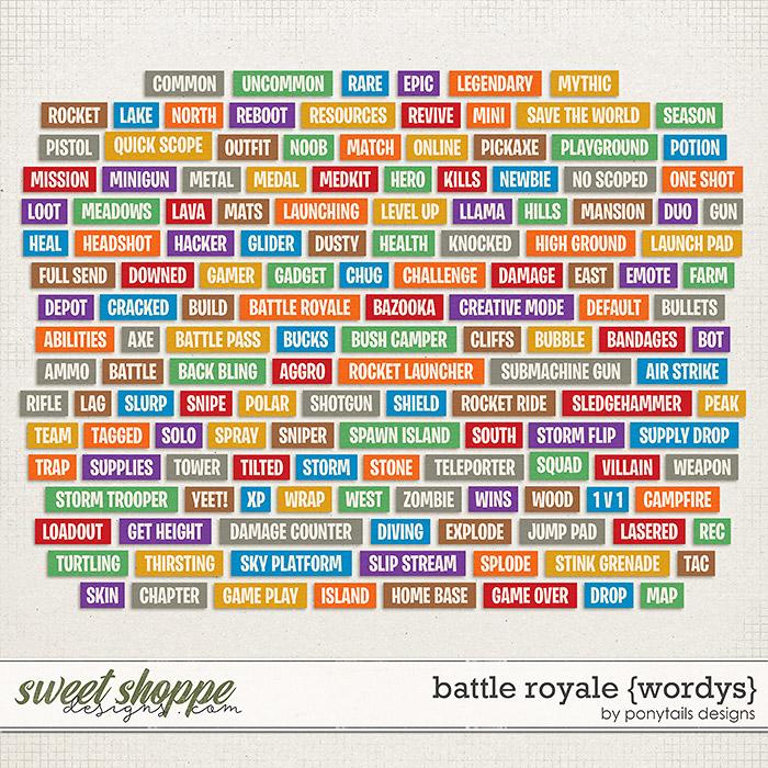 Battle Royale Wordys by Ponytails