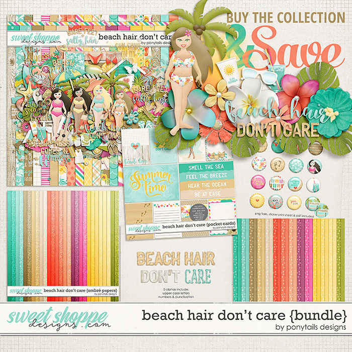 Beach Hair Don't Care Bundle by Ponytails