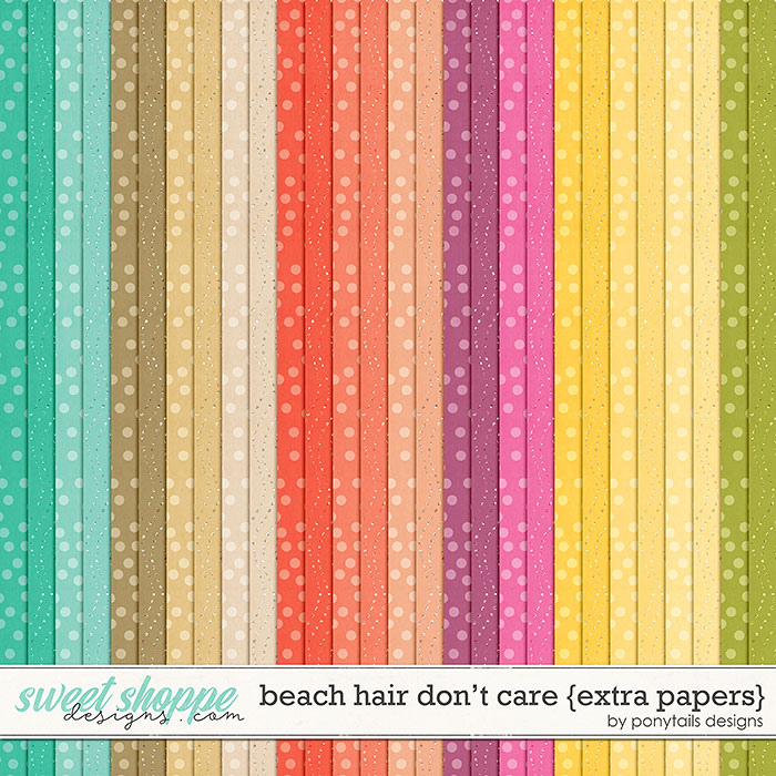 Beach Hair Don't Care Extra Papers by Ponytails