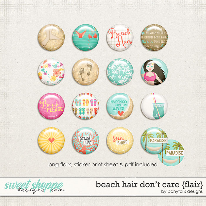 Beach Hair Don't Care Flair by Ponytails