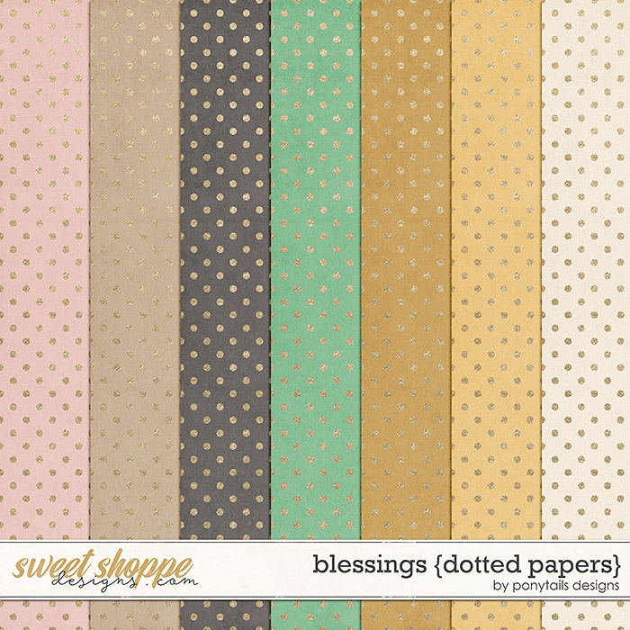 Blessings Dotted Papers by Ponytails