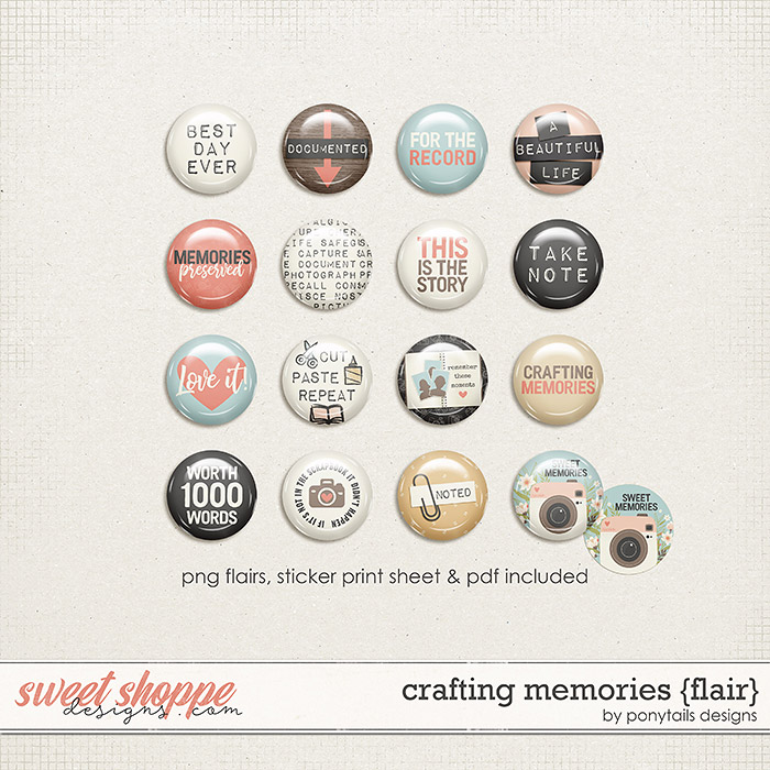 Crafting Memories Flair by Ponytails