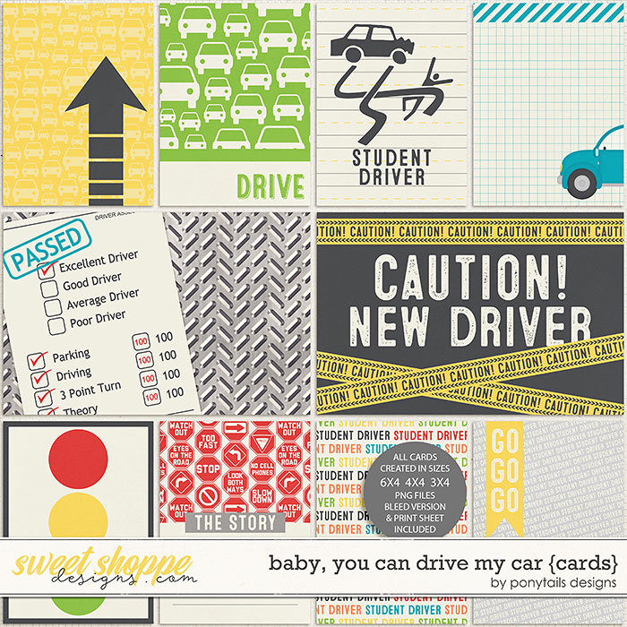 Baby, You Can Drive My Car Pocket Cards by Ponytails