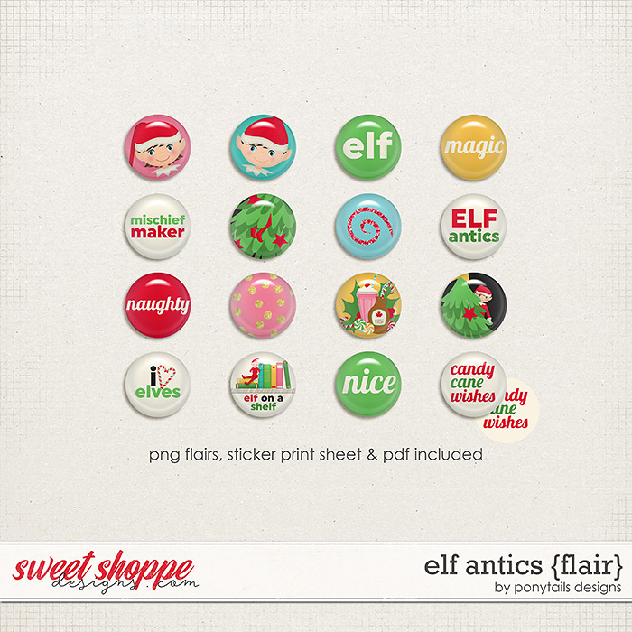 Elf Antics Flair by Ponytails