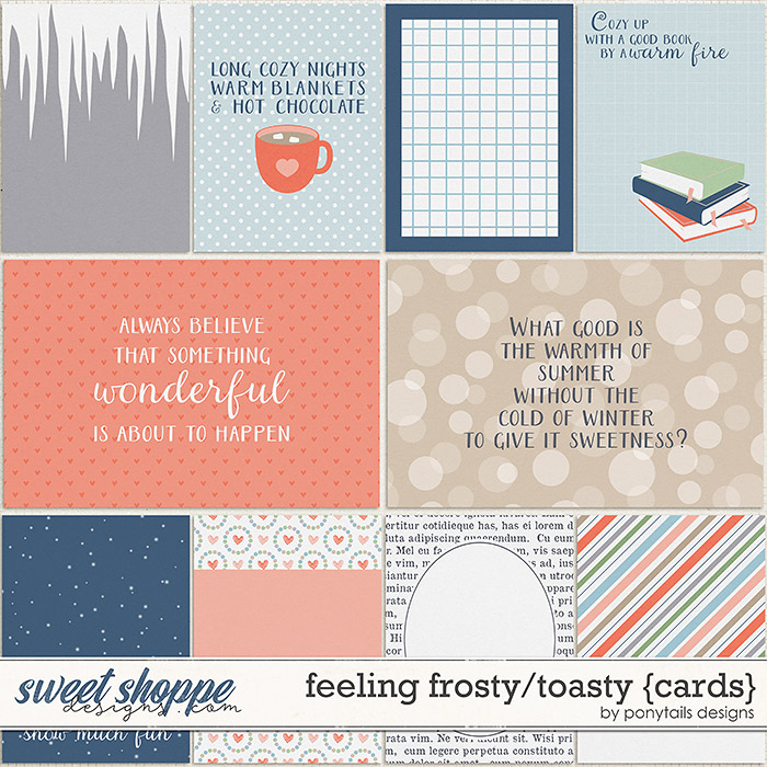 Feeling Frosty / Toasty Pocket Cards by Ponytails