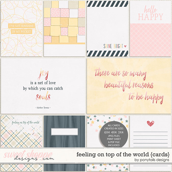 Feeling On Top of the World Pocket Cards by Ponytails