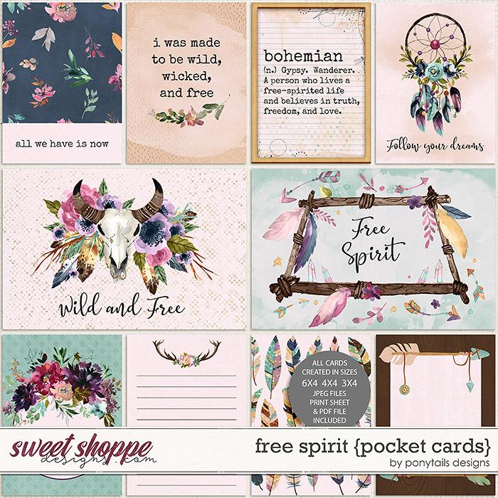 Free Spirit Pocket Cards by Ponytails