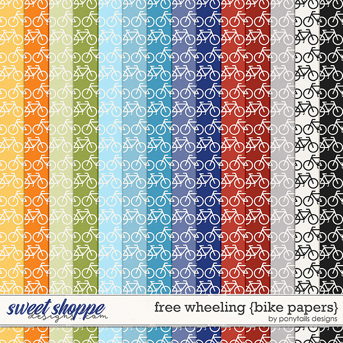 Free Wheeling Bike Papers by Ponytails