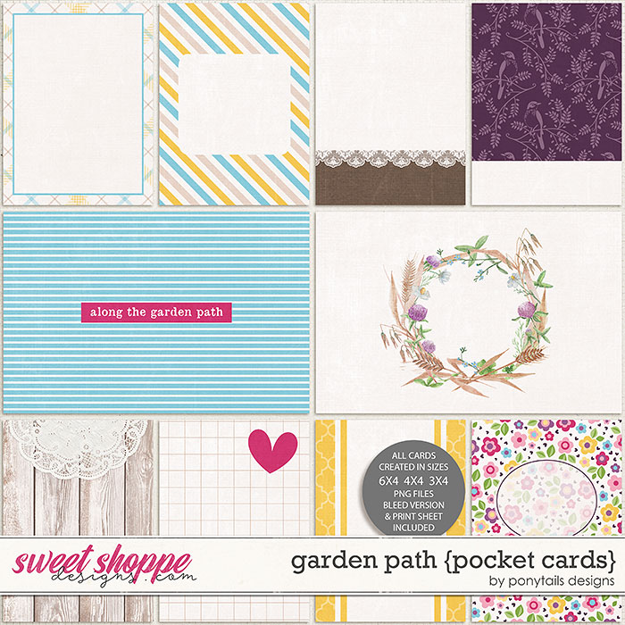 Garden Path Pocket Cards by Ponytails
