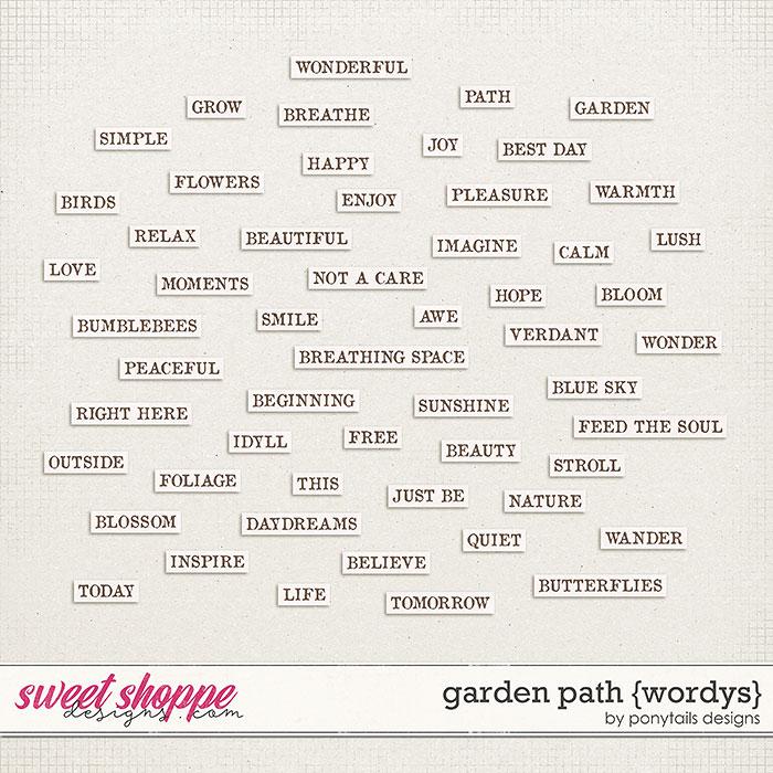Garden Path Wordys by Ponytails