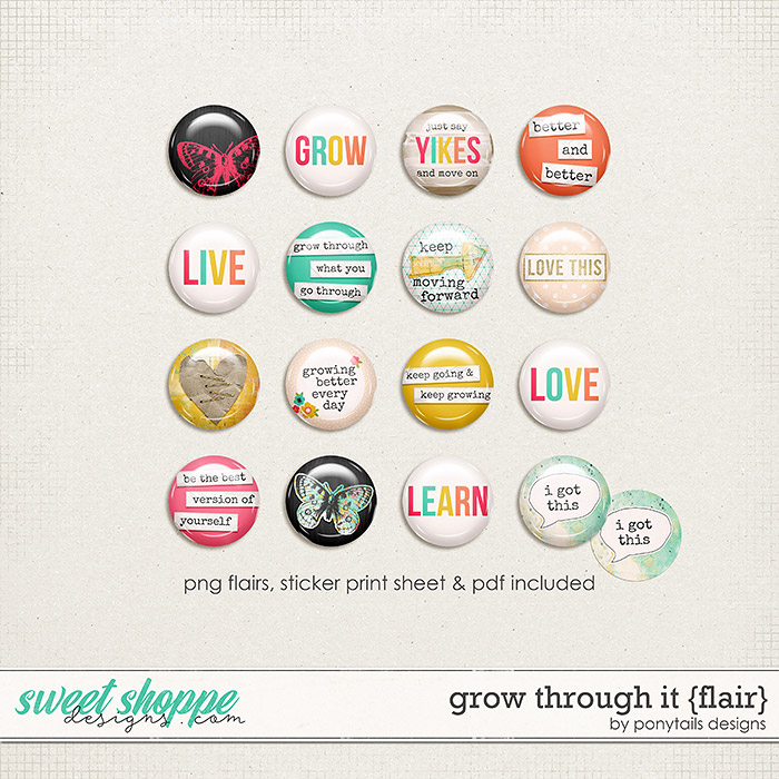 Grow Through It Flair by Ponytails