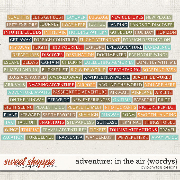 Adventure: In the Air Wordys by Ponytails