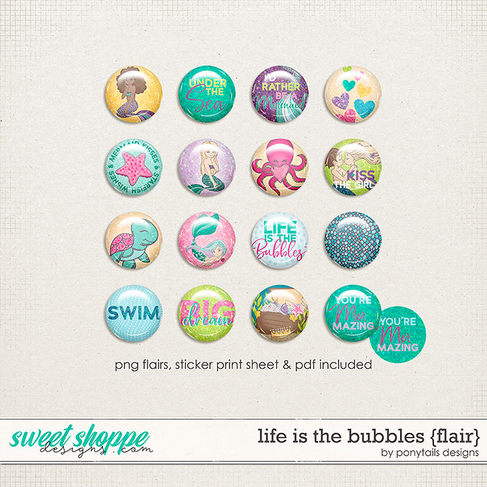 Life is the Bubbles Flair by Ponytails