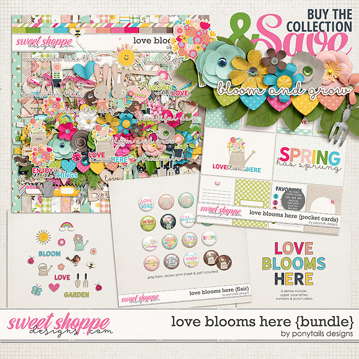Love Blooms Here Bundle by Ponytails