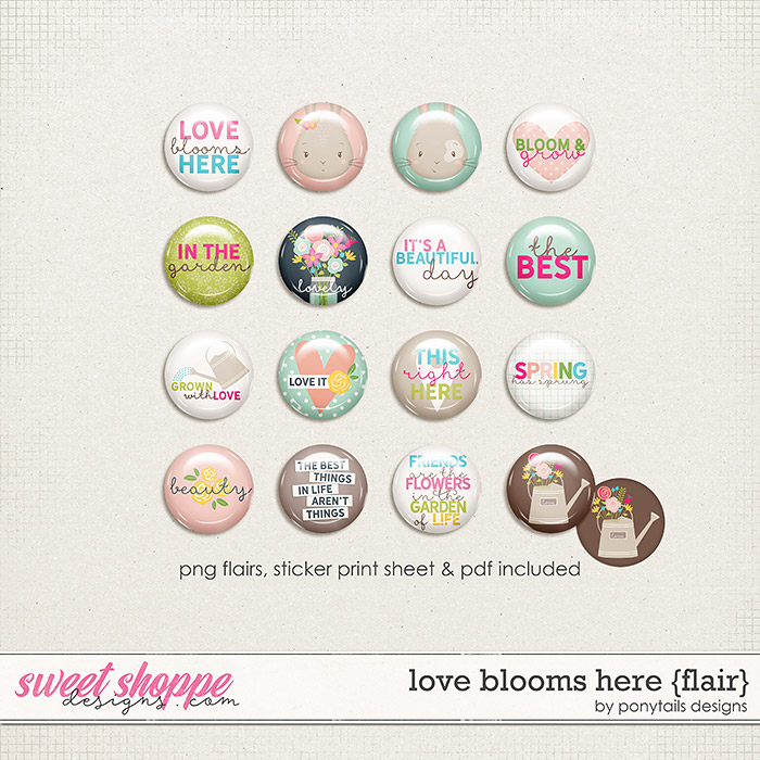 Love Blooms Here Flair by Ponytails