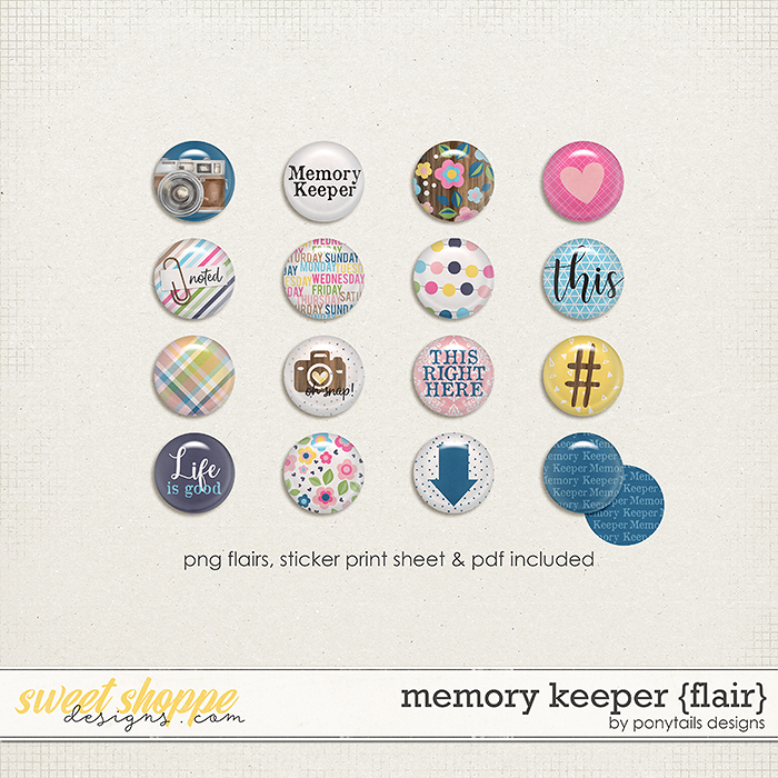 Memory Keeper Flair by Ponytails
