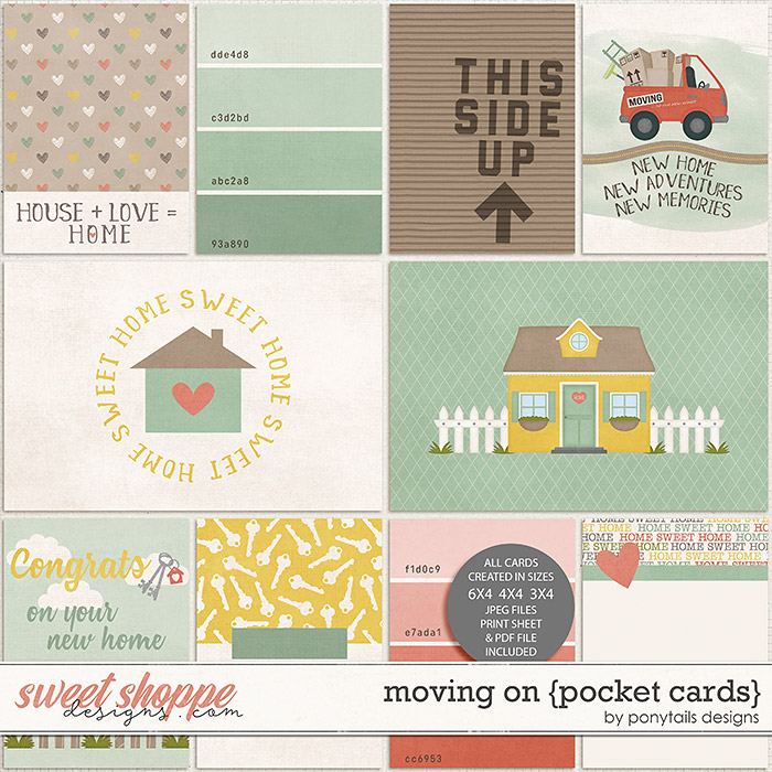 Moving On Pocket Cards by Ponytails
