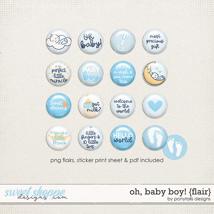 Oh Baby Boy! Flair by Ponytails