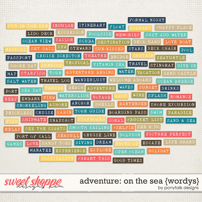 Adventure: On the Sea Wordys by Ponytails