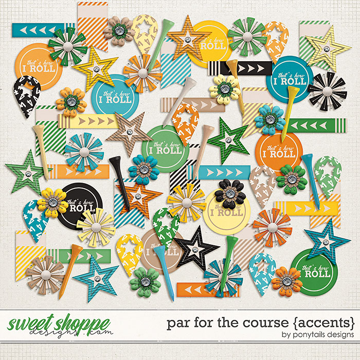 Par for the Course Accents by Ponytails