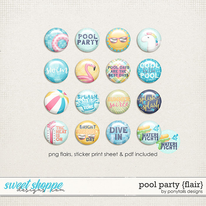 Pool Party Flair by Ponytails