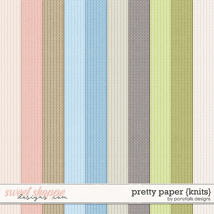 Pretty Paper Knit Papers by Ponytails