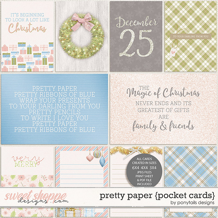 Pretty Paper Pocket Cards by Ponytails