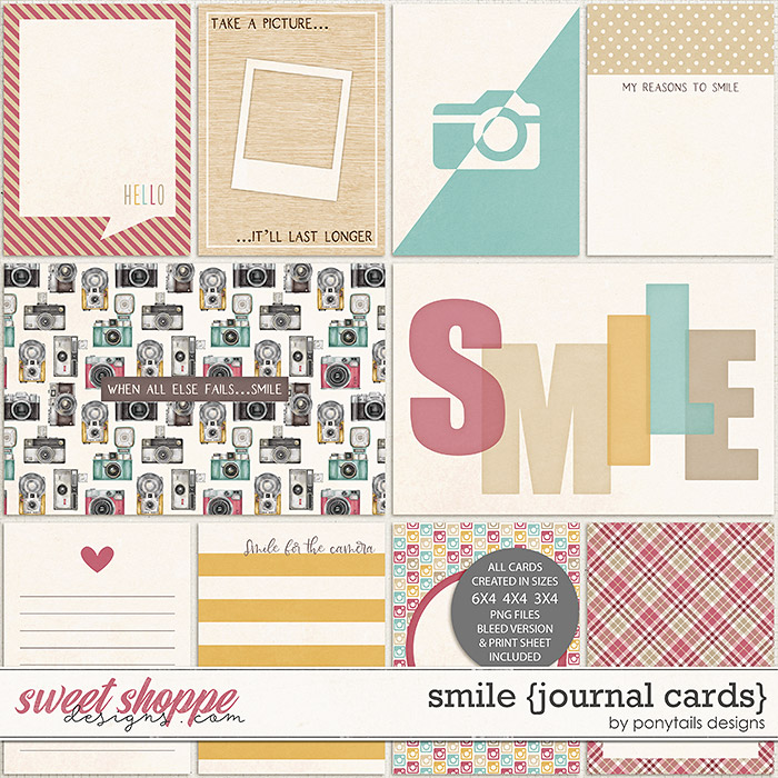 Smile Journal Cards by Ponytails
