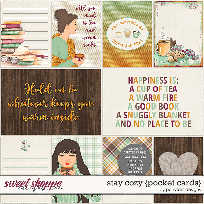 Stay Cozy Pocket Cards by Ponytails