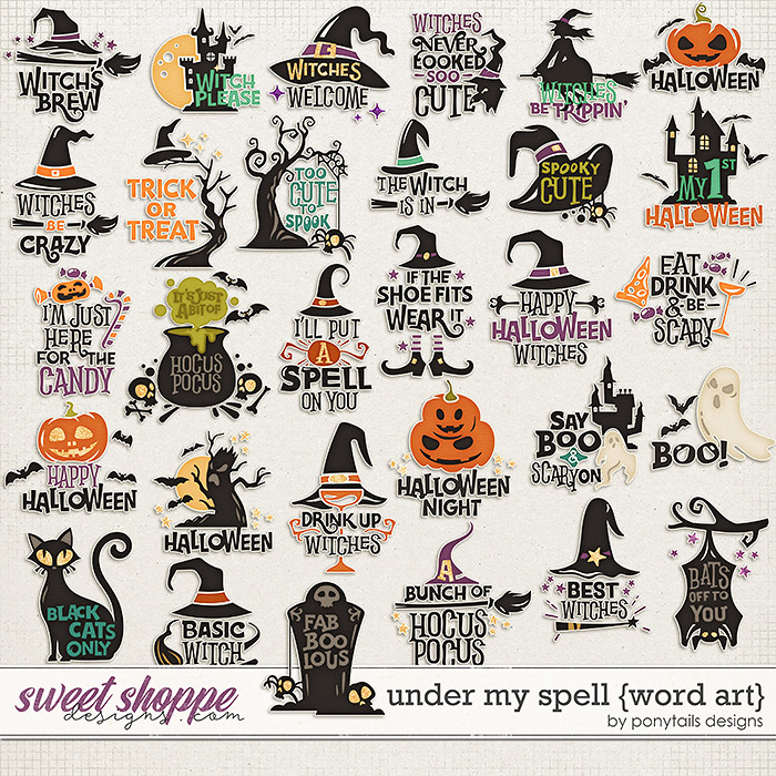 Under My Spell Word Art by Ponytails