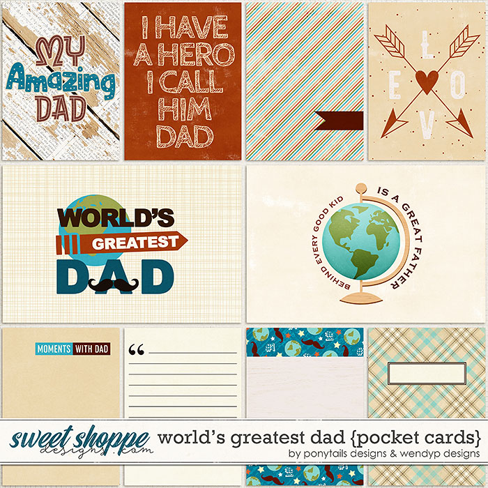 World's greatest dad - cards by Ponytails Designs & WendyP Designs