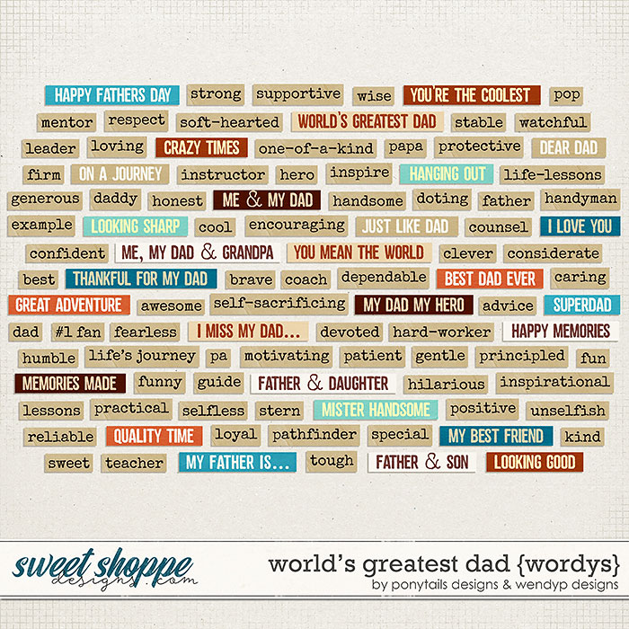 World's greatest dad - wordys by Ponytails Designs & WendyP Designs
