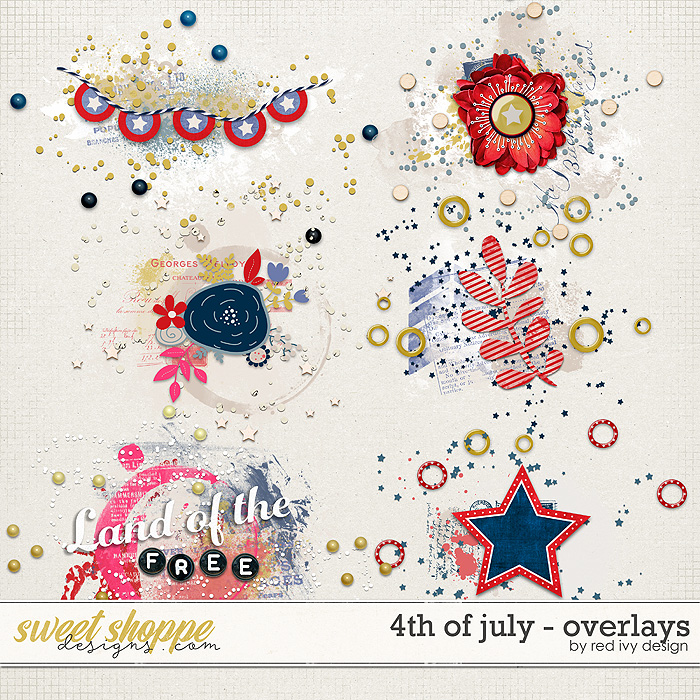 4th of July - Overlays