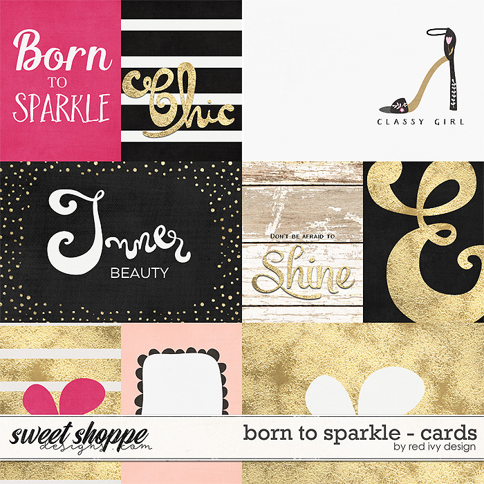 Born To Sparkle - Cards by Red Ivy Design