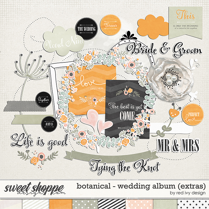Botanical - Wedding Album - Extras by Red Ivy Design