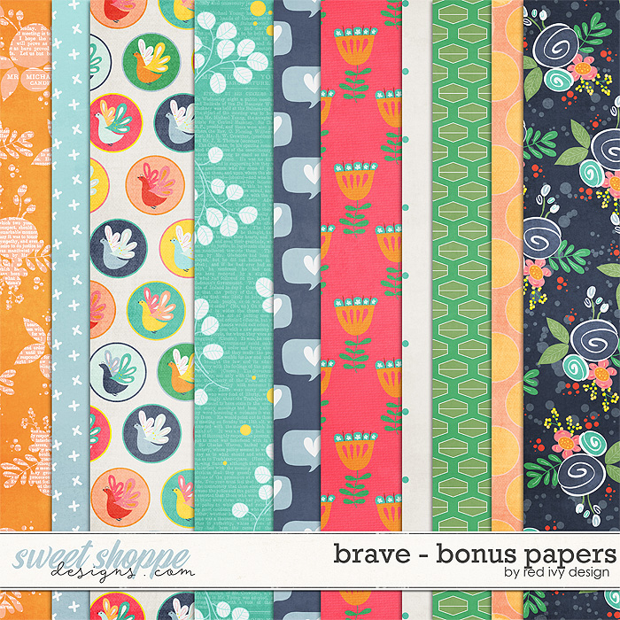 Brave - Bonus Papers by Red Ivy Design