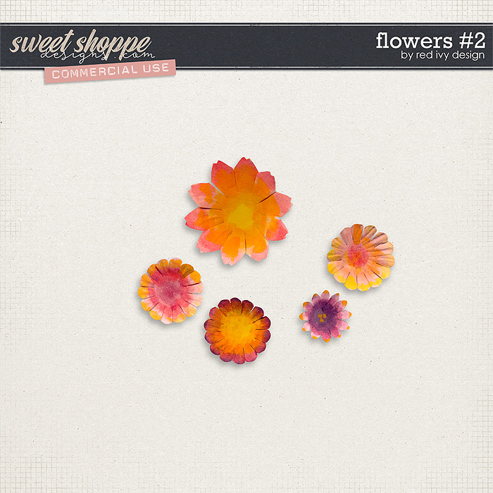 CU Flowers #2 by Red Ivy Design
