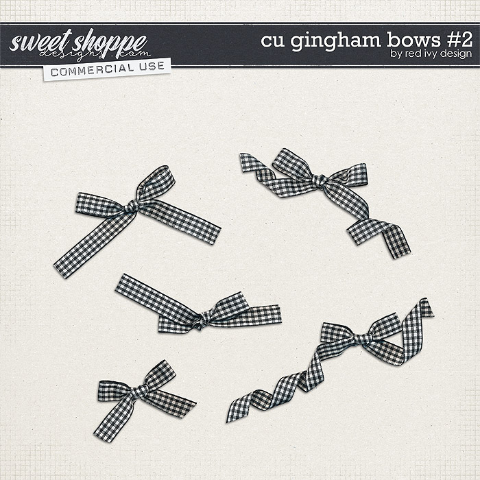 CU Gingham Bows #2 by Red Ivy Design