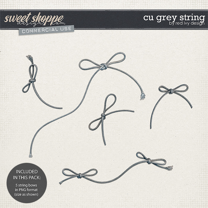 CU Grey String by Red Ivy Design