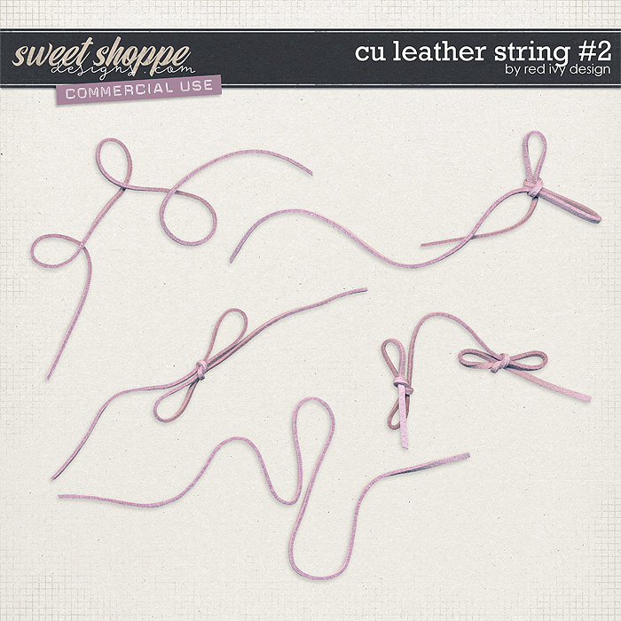 CU Leather String #2 by Red Ivy Design