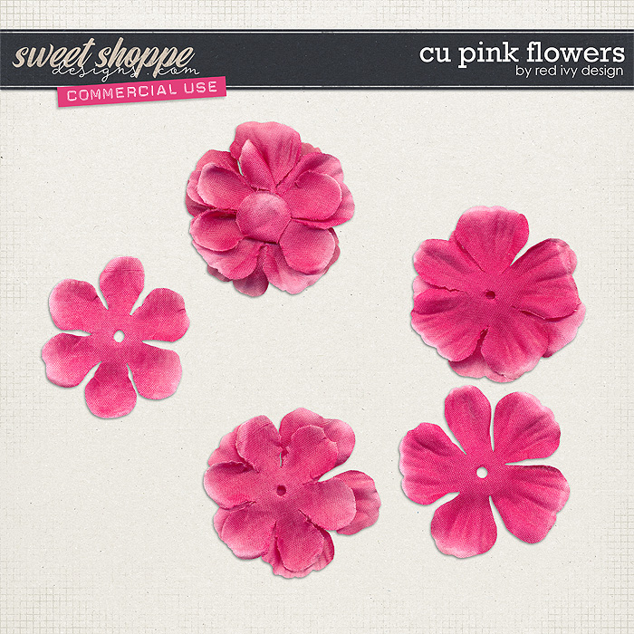 CU Pink Flowers by Red Ivy Design
