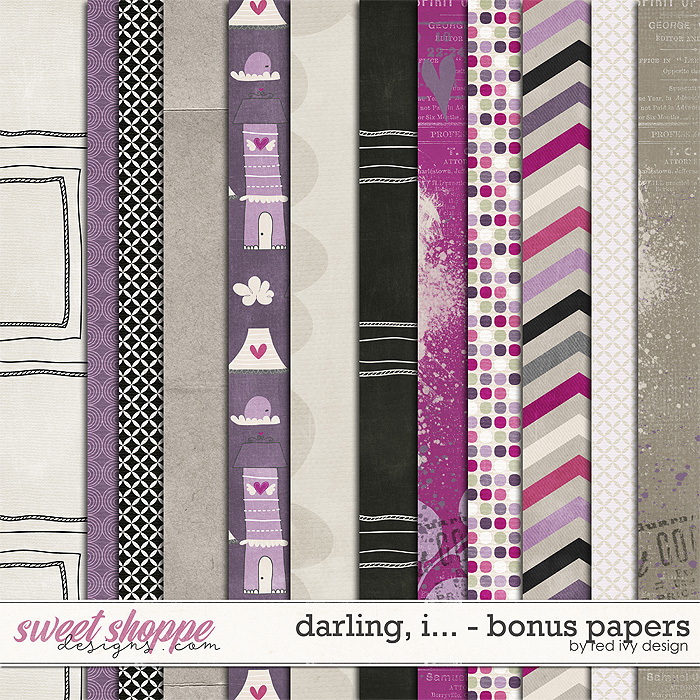 Darling, I... - Bonus Papers by Red Ivy Design