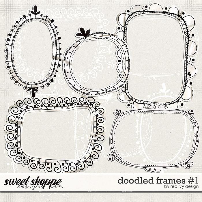 Doodled Frames #1 by Red Ivy Design