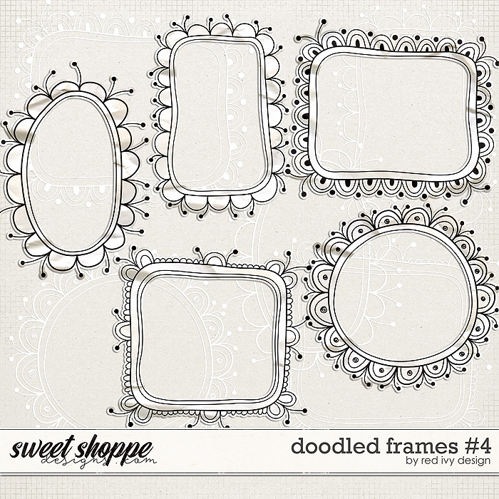Doodled Frames #4 by Red Ivy Design
