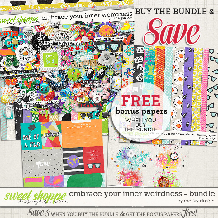 Embrace Your Inner Weirdness - Bundle by Red Ivy Design